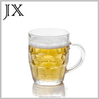 wholesale pineapple shaped glass beer mug steins with handle