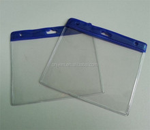 wholesale waterproof transparent clear credit pvc card holder