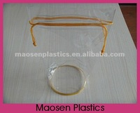 Pvc drawstring pouch with round bottom