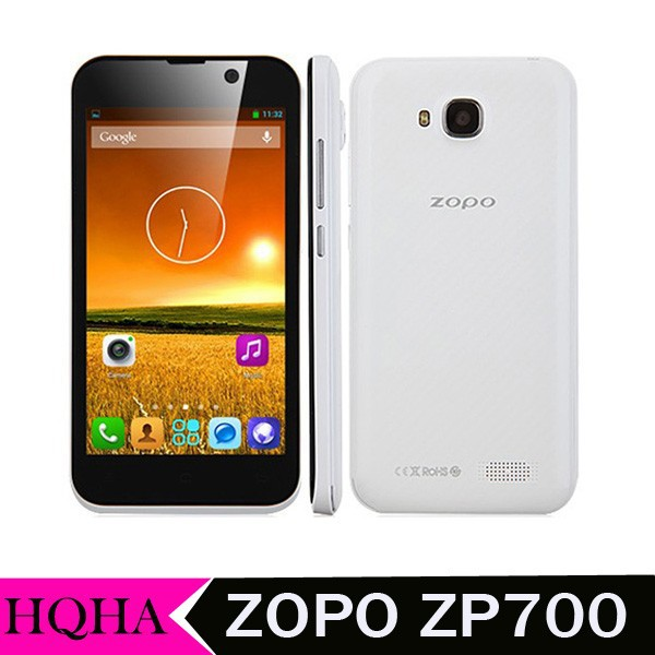 "Original ZOPO ZP700 cuppy 4.7"" QHD 960*540 mtk6582 quad core 1.3GHz 1GB RAM 4GB ROM dual cams GPS 3G WCDMA android phone"