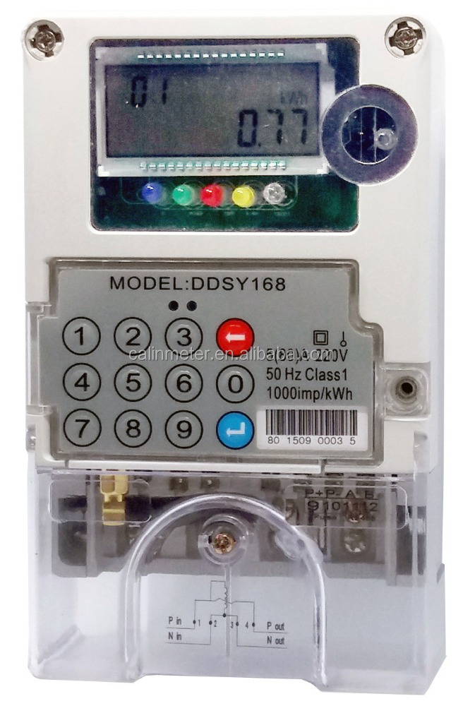 Single Phase Electric Energy Meter Communication Prepayment Meters Meter with GPRS
