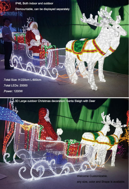 christmas decorationjpg - Outdoor Christmas Sleigh Decorations