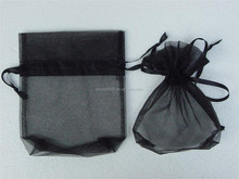 7x9cm Black Organza Jewelry Candy Gift Wedding Xmas Pouches Bags 1000pcs/lot