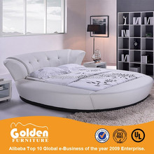 UK hot sale new design leather round bed frame of Foshan manufacturer 6820