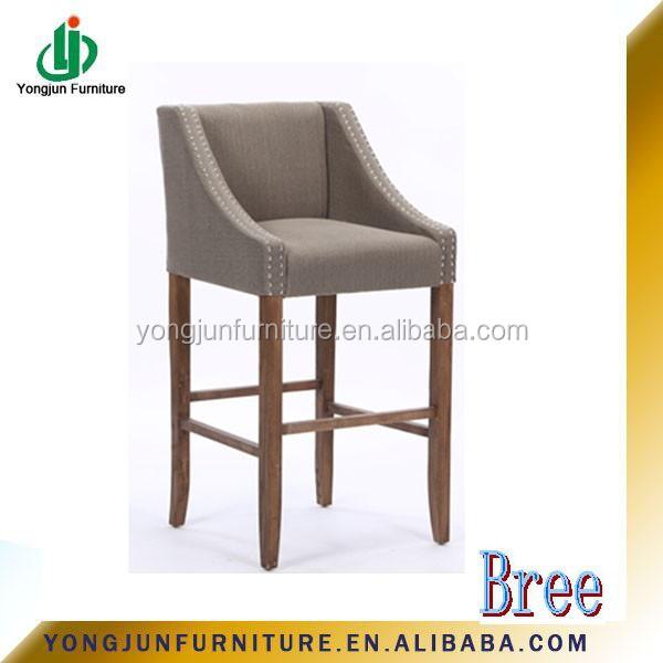 L gante chaise tabouret de bar chaise haute en bois - Chaise haute bar bois ...