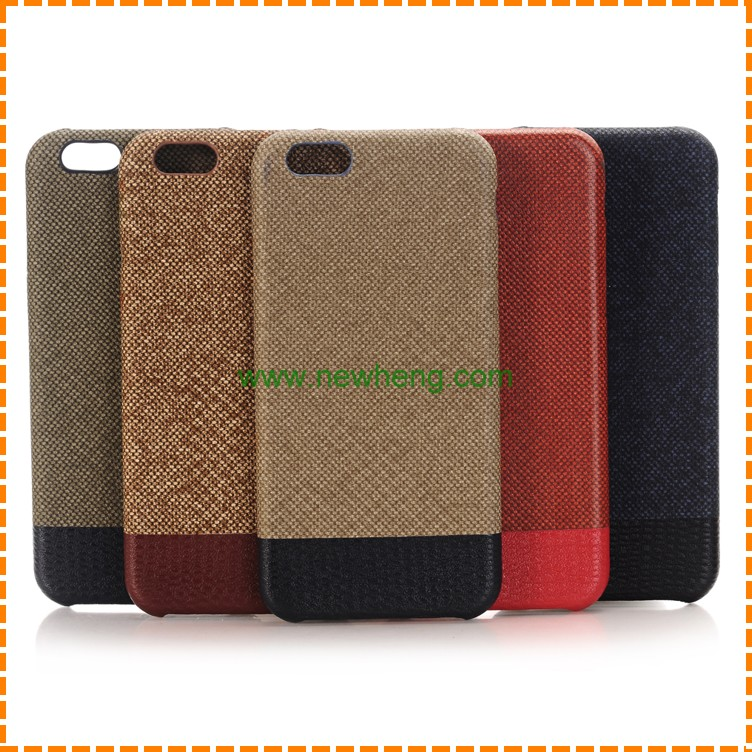 Cotton and linen cloth PC phone case for iPhone 7