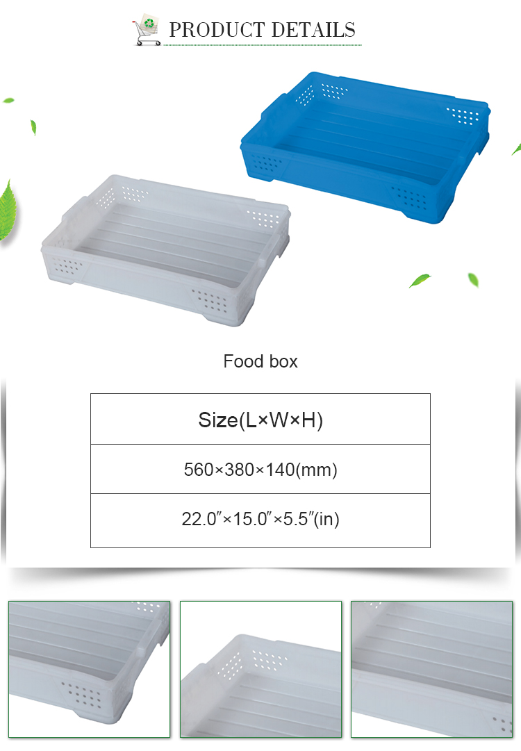 Customizable color supermarket Stackable small plastic food basket