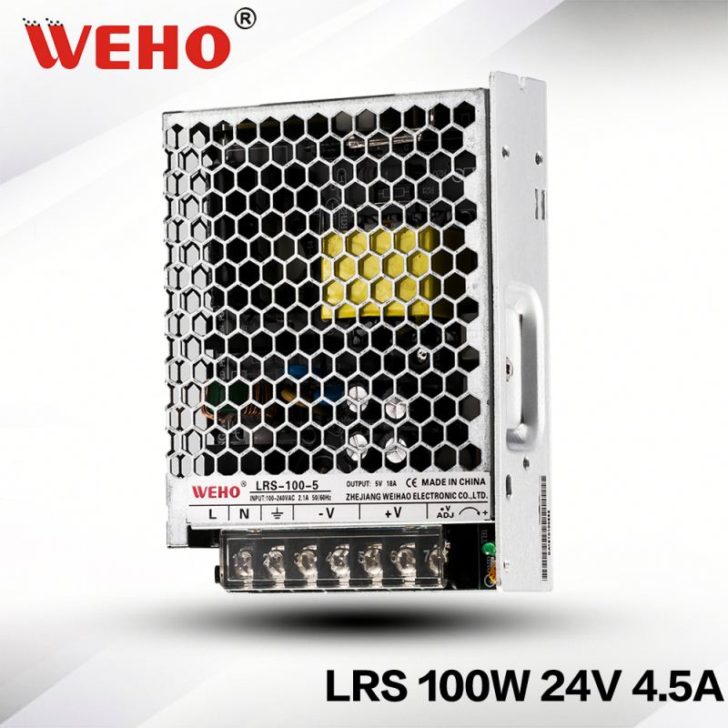 WEHO OEM/OMD new design LRS-100-24 ac to dc 100w 24v slim switching power supply