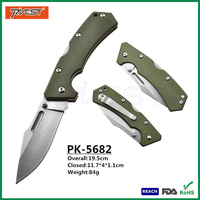 Custom Green G10 Handle Daily Carry Combat Pocket Knife Wholesale