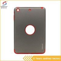 Customized pc with tpu perfect combination for ipad mini 2 heavy duty case