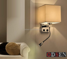 decorative hotel wall sconces fabric led 3w wall light