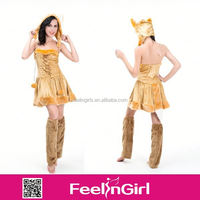 Cheap sexy halloween costume sexy animal women costume for adult