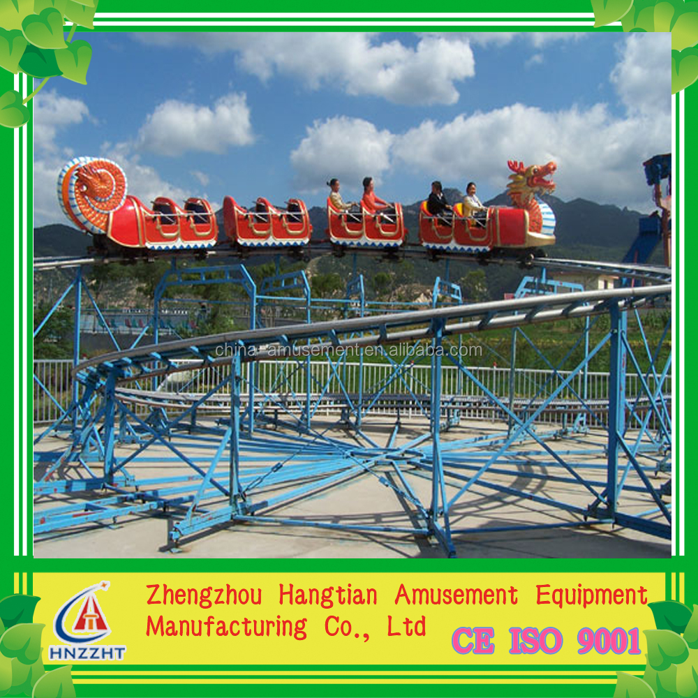 most popular and high quality fiberglass playground equipment sliding dragon/mini roller coaster for kids