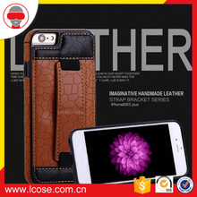 Wholesale factory leather case for iphone 7, case with hold for iphone 7, case with side leather shield for samsung