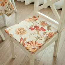 Hot Sale pure color or custom design Cotton Polyester thin chair pad