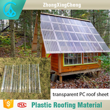 Plastic raw materials corrugated polycarbonate roof sheet for greenhouse