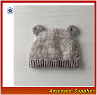 Soft 100% organic cotton baby knit hat/ winter newborn baby knitted hat soft-touch infant new baby cap
