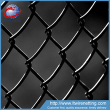 High quality 6ft black vinyl coated chain link fence per sqm weight