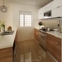 Cheap pvc laminate kitchen cabinet door full kitchen