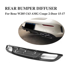 OE M Style C63 Auto Rear Diffuser for Mercede s Ben z W205 C63 AMG Coupe 2-Door 15-17