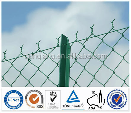 Hot dipped galvanized or pvc cotaed high quality factory price BV certificate CHAIN LINK FENCE FOR CANTILEVER GATES