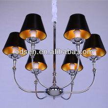 Tiffany style lamp shade chandelier with six lights