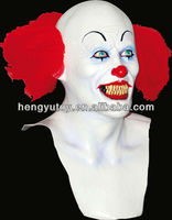 High Quality Fashion Fancy Dress Cosplay latex pennywise clown Mask of Full Head For Adult Sex Halloween Party Costume Mask