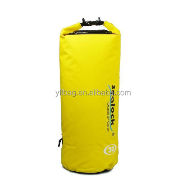 Yellow best dry bag for rafting 30L china supplier