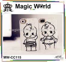 Hot selling unique cutsom shy little girl mobile phone case