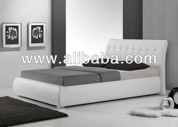 Furniture Bedroom Bed / Faux Leather PU Bed ( Ejaaz Bed)