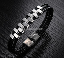high quality leather and chain wrap bracelets