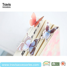 Cool Purple 3D Card Bookmarks for Student, Cute Stereo Butterfly Bookmark