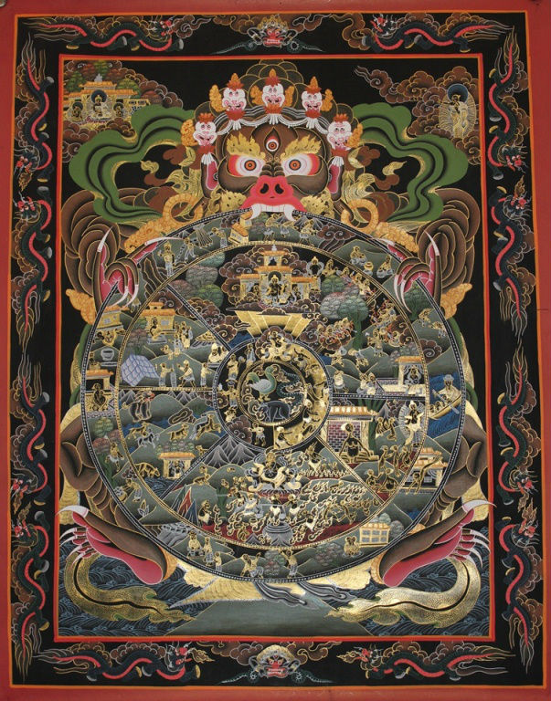 High Quality Wheel of Life Tibetan Thangka Painting Hand Painted in Nepal