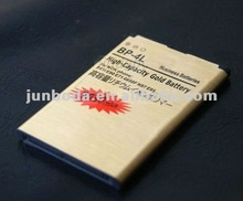 Best price for gold battery BP-4L 3030mah with high quality for Nokia bp-4l 6650 T-mobile / 6790 /E52 /E55/E61I/E63