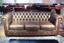 Contemporary hotel furniture italian reproduction living room wooden leather sofa set