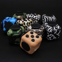 High Quality Stress Relief Desk Toy Fidget Cube Camouflage Fidget Cube