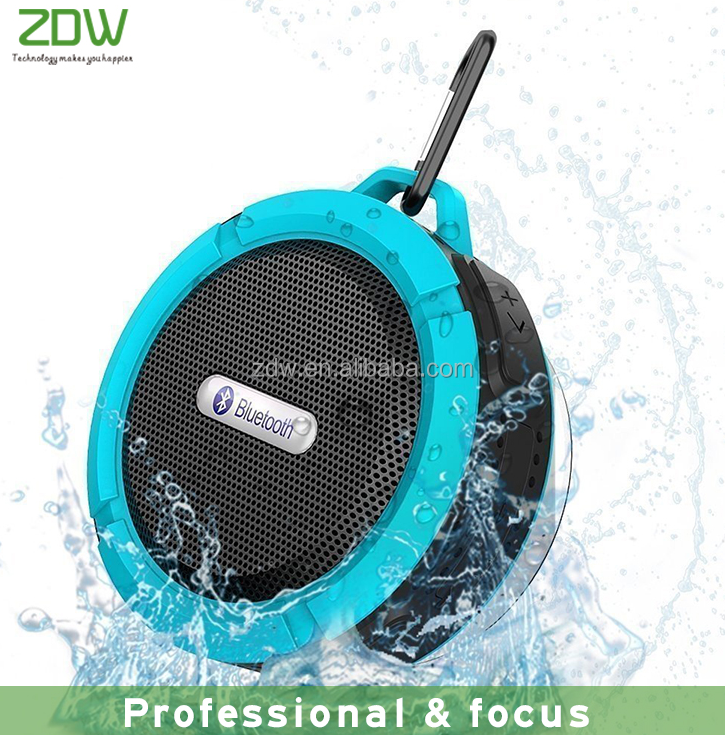 New product 2017 waterproof portable wireless bluetooth speaker with sucker for shower mini speaker support TF USB
