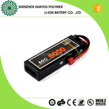 Rechargeable High C Rate 60C 7.4v 6000mAh Lipo Battery for RC Car