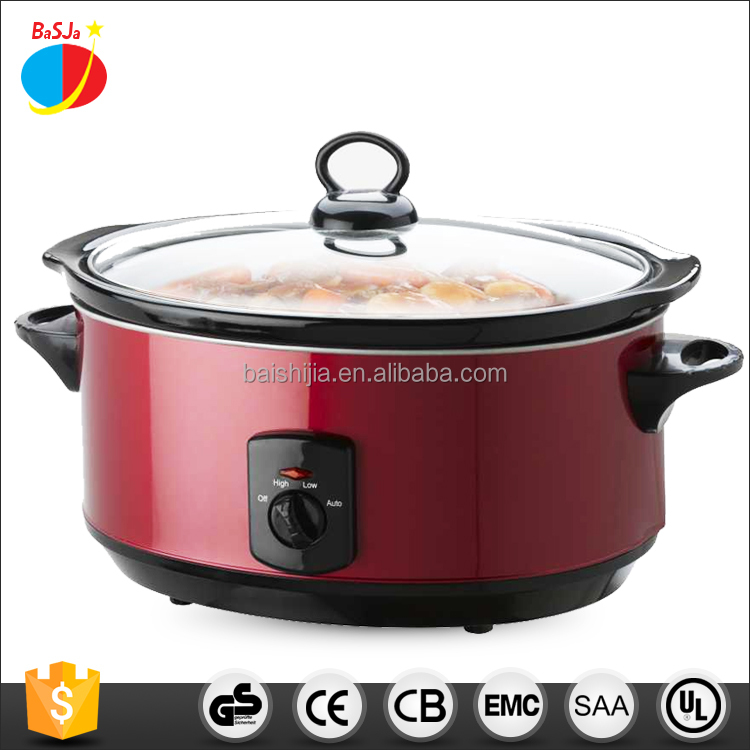 Chinese wholesale kitchen appliance 2016 modern design oval shape stainless steel crock pot electric slow cooker
