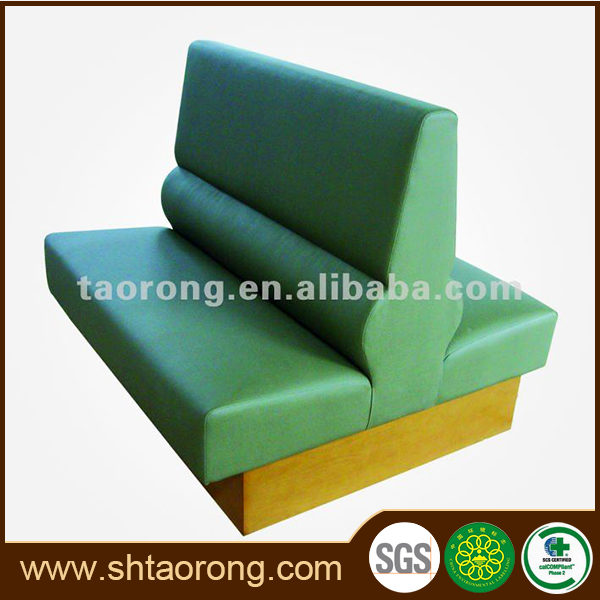 Factory direct bar club two side wooden booth seating sofa