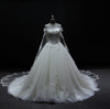 6721glamlrous removeble tulle lace beading wedding bridal gown