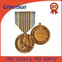 China manufacture hot selling blank metal medal badges