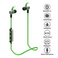 Consumer Electronics 2016 Bluetooth Earbuds Wireless 4.1 Magnetic Headphones Stereo Earphones with Mic, Secure Fit for Sports