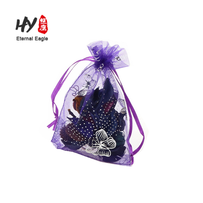 Manufacturer gift organza pouch drawstring christmas bags