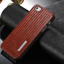 New design leather case for iphone5/5s, protective hard case for iphone 5,Brown Crazy Horse Leather Case For iPhone 5 with gifts