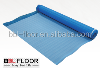 3mm EPE foam laminated floor underlayment with 40 microns recyled pe film from BBL floor