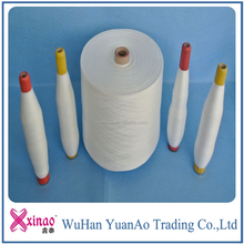 Polyester Spun Yarn For Bag Closing Thread Raw White