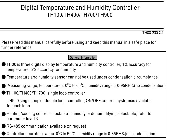 MaxWell digital temperature and humidity controller