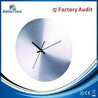 Luxury handmade promotional shadow Aluminum wall clock !