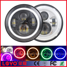 "led 7"" projector head lights jeep,led headlight bulb for motorcycles 7inch 45w led headlight"